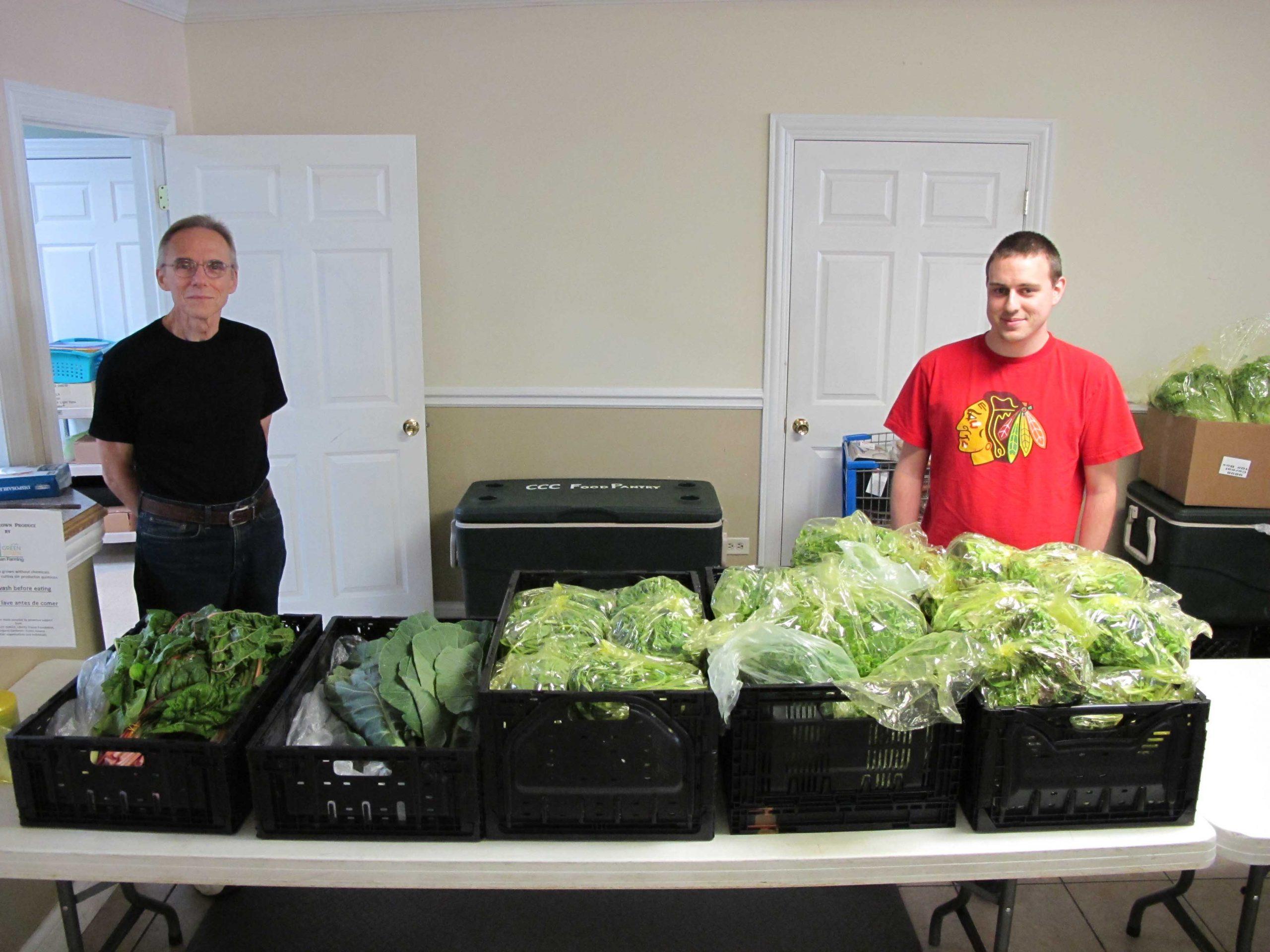 Vegetables at food pantry